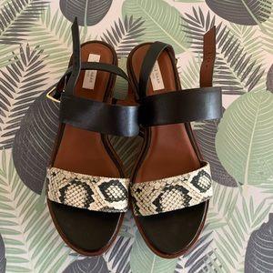 Women's Cole Haan Platform Leather Sandals 7.5